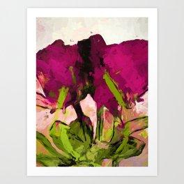 Rose Romantica Magenta Green Art Print