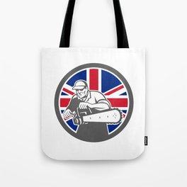 British Arborist Union Jack Flag Icon Tote Bag