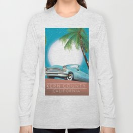 Kern County California vintage style travel poster Long Sleeve T-shirt