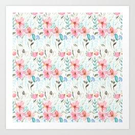 Garden Watercolour Floral Art Print