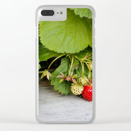 Wild Strawberry Photography Print Clear iPhone Case