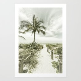 Path to the beach | Vintage Art Print