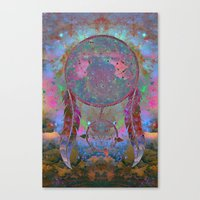 dreamcatcher Canvas Prints featuring Dreamcatcher by Starstuff