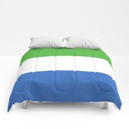 Sierra Leone flag emblem Comforters