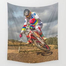 Motocross action sports Wall Tapestry