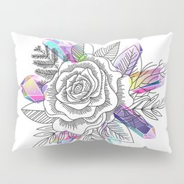 Rose and Crystals Pillow Sham