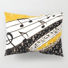 Gold music theme Pillow Sham