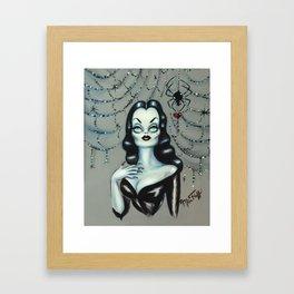 Vampira Black Widow Valentine Framed Art Print