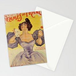 affiche parfums des femmes de france Stationery Cards