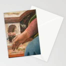 Madonna's flower (detail of the painting by Fra Filippo Lippi) Stationery Cards