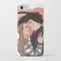 johnlock iPhone & iPod Cases featuring Bunny loves by Stitchy