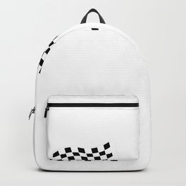 V8 racing car and flag Backpack