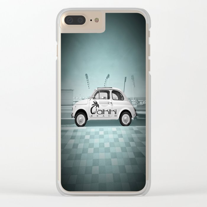 Fiat 500 Forever Clear iPhone Case