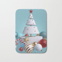 Cake Christmas Tree Bath Mat