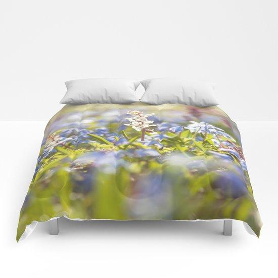 Spring flower meadow - Colorful flowers -floal Comforters