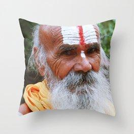 Saint smile Throw Pillow