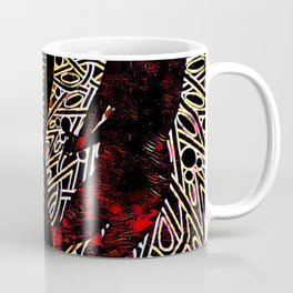 9255-KMA Abstract Fine Art Nude Woman in Red Coffee Mug