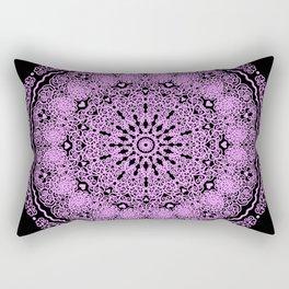 Mandala Project 234 | Pink Filigree & Hearts Rectangular Pillow