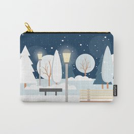 First Snow Fall in Central Park Carry-All Pouch