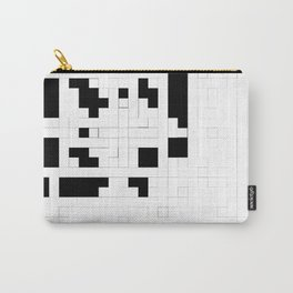 Monochrome Pixels Carry-All Pouch