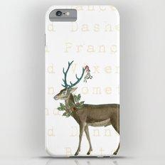 Artsy Christmas reindeer Slim Case iPhone 6s Plus
