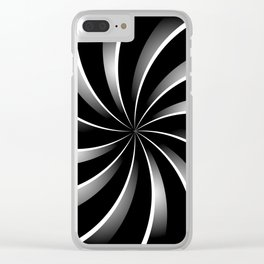 Spiral pattern Clear iPhone Case