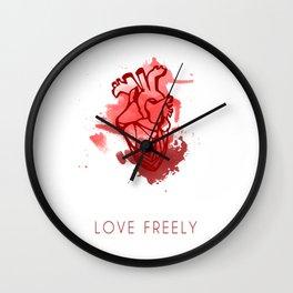 Love Freely Wall Clock