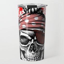 *** Ltd Edition: skull t-shirt Travel Mug