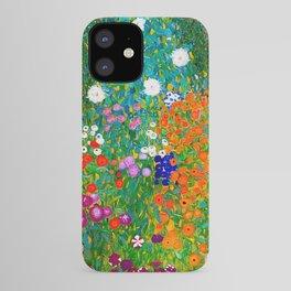 Gustav Klimt - Flower Garden iPhone Case