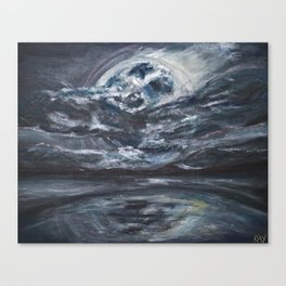 blame it on the full moon Canvas Print