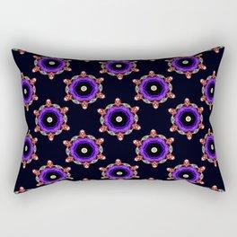 Purple Jewel Pattern - Black Rectangular Pillow