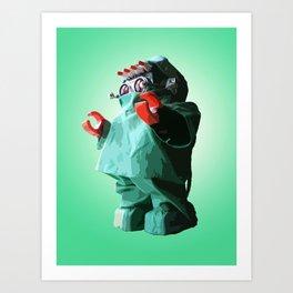 Doctorbot Green Art Print