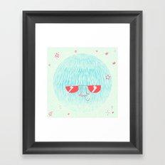 Chill Space Planet Framed Art Print
