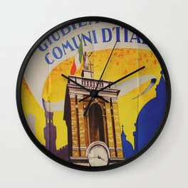 Roma 1950 Vintage Travel Poster Wall Clock