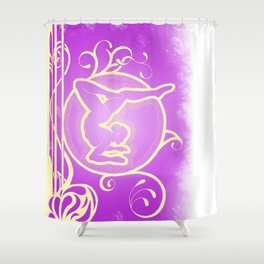 Dance Nouveau Shower Curtain