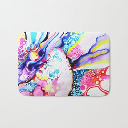 Infinite Flare - Watercolor Painting Bath Mat