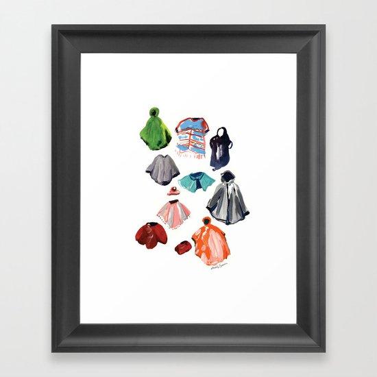 A Passel of Ponchos Framed Art Print