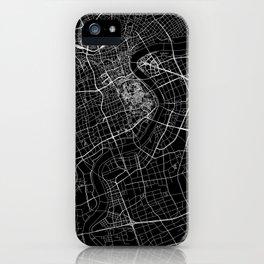 Shanghai Black Map iPhone Case