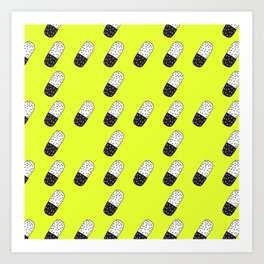 Take a neon pill Art Print