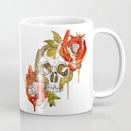 Geometric Skull & Roses Coffee Mug