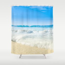 Beach Love Summer Sanctuary Shower Curtain
