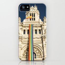 Building With LGBT Pride Flag iPhone Case