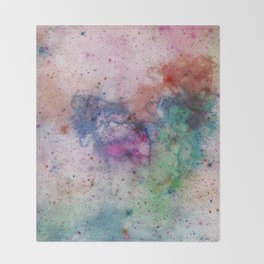 Star Gazer - Abstract, space, ink painting Throw Blanket