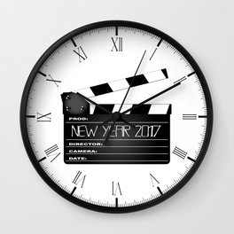 New Year 2017 Clapperboard Wall Clock