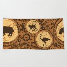 African Tribal Pattern No. 5 Beach Towel