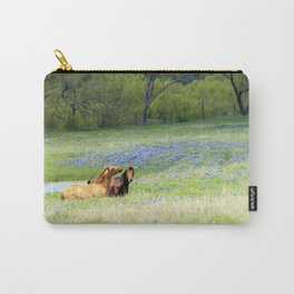 Horses & Bluebonnets Carry-All Pouch