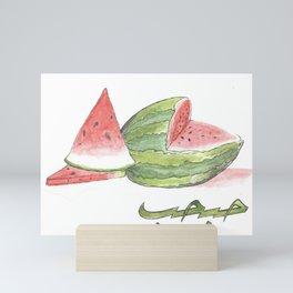 Watermelon حبحب Mini Art Print