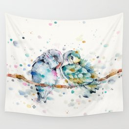 Mr & Mrs Snugglepots [pacific parrotlets] Wall Tapestry