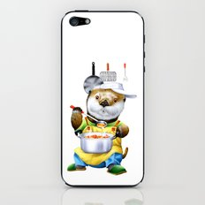 A sea otter cooking iPhone & iPod Skin