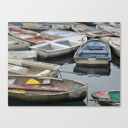 Boats in Sai Kung Canvas Print